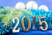 New Year background with  fir decorations and balls. — Zdjęcie stockowe