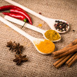 Cooking ingredients, spices, herds and oil — Stock Photo #55989215