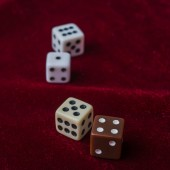 Game bones  on a table, concept of game — Stock Photo