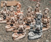 Statues for decoration gardens — Stock fotografie
