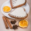 Homemade gingerbread heart-shaped — Stock Photo #64232053