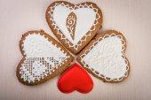 Ev yapımı kurabiye kalp şeklinde — Stok fotoğraf