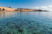 Panorama of the beach at luxury hotel, Sharm el Sheikh — Stock Photo