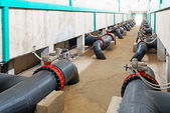 Modern urban wastewater treatment plant — Stock Photo