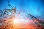 High-voltage tower — Stock Photo