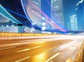 Les sentiers de lumière à shanghai chine — Photo