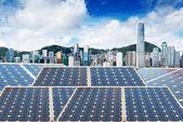 Ecological energy renewable solar panel — Zdjęcie stockowe