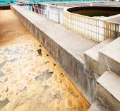 Modern urban wastewater treatment plant — Stock Photo
