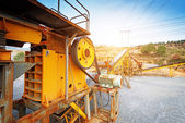 Open pit mining and processing plan — Stock Photo