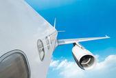 Large passenger plane — Stock Photo