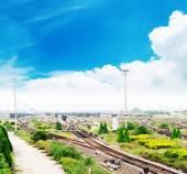 The way forward railway — Stock Photo
