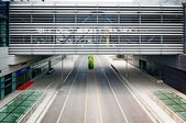 Empty road at shanghai airport — Stock Photo
