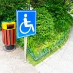 Using wheelchair ramp — Stock Photo #57789997
