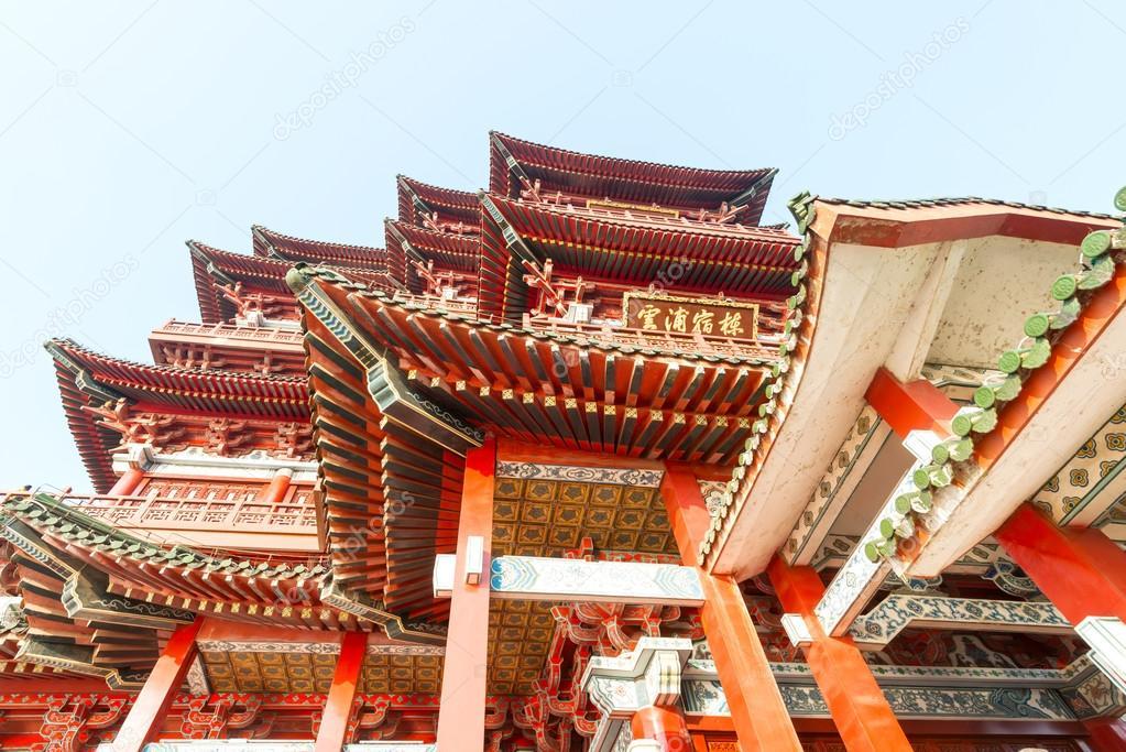 南昌市滕王阁中国古代传统建筑用木头做的