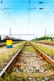 Путь вперед железная дорога — Стоковое фото