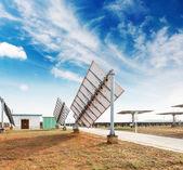 Solar panels against blue sky — Stock Photo