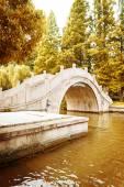 Old park bridge — Stock Photo