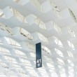 Transparent glass ceiling subway station — Stock Photo #57894777