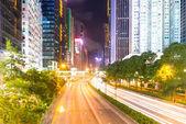 在晚上在香港交通 — 图库照片