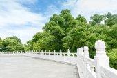 Ornamental stone fences — Stock Photo