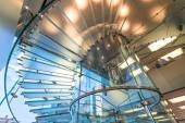 Modern Glass Staircase Silhouette — Stock Photo