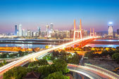 Shanghai interchange overpass and elevated road — Stock Photo