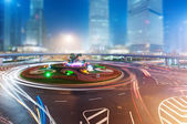 The light trails in Shanghai — Stock Photo