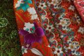 культурный цветочный образец ткани таиланда. — Стоковое фото