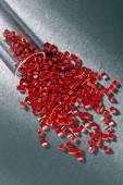 Polymer Granulaton stainless steel sheet — Stock Photo