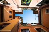 Atrium of italian city houses — Stock Photo