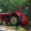 Tractor in forest during work — Stockfoto #71670447