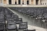 方形与教区的椅子前面圣伯多禄的贵 — 图库照片