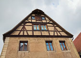 Facade of medieval house,  Rothenburg ob der Tauber, Germany — Stock Photo