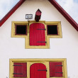 Facade of old medieval house in Rothenburg ob der Tauber, German — Stock Photo #54483461