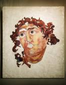 Marble Head Of Helios In Opus Sectile, Museum In Colosseum, Rome, Italy — Stock Photo
