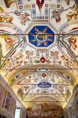 Interior of gallery of the Vatican Museum in the Vatican City, R — Stok fotoğraf