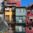 Facades of houses in old town, Porto, Portugal — Stock Photo #62194197