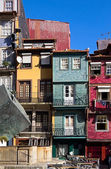 Facades of houses in old town, Porto, Portugal — ストック写真