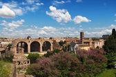 Pohled na Fora, ze patrová Hill, Řím — Stock fotografie