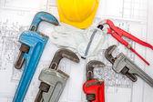 Plan plumber — Stock Photo
