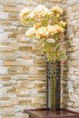 Vase with flowers — Stock Photo
