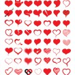 Big set of heart. Vector illustration. — Vettoriale Stock  #52604639