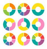 Circle pie arrow set — Stock Vector