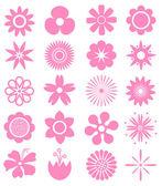 Set of Vector Flowers. — Stock Vector
