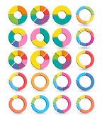 Circle pie arrow set — Cтоковый вектор