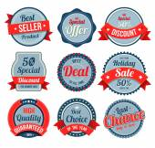 Set of retro vintage banner, badges and labels. — Stock Vector