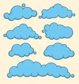 Cloud collection shape. Vector illustration — 图库矢量图片