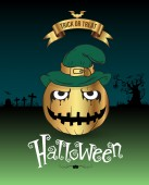 Halloween element printing and website — Stock Vector