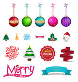 Set of Christmas object. Vector illustration. — Stock Vector