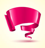 Pink ribbon banner twist.  — Vettoriale Stock
